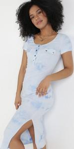 Sukienka born2be z krótkim rękawem mini z okrągłym dekoltem