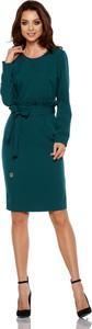 Zielona sukienka Lemoniade midi ołówkowa z długim rękawem