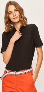 Bluzka Tommy Hilfiger w stylu casual z krótkim rękawem z okrągłym dekoltem