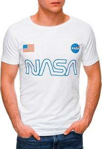 T-shirt Edoti z krótkim rękawem z nadrukiem w młodzieżowym stylu