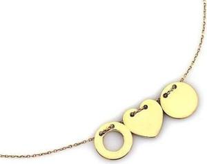Lovrin Złoty naszyjnik 585 celebrytka ring serduszko kółeczko