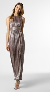 Sukienka Swing prosta bez rękawów z okrągłym dekoltem