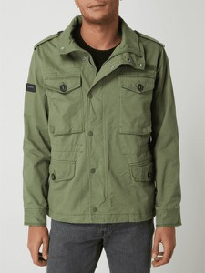 Zielona kurtka Superdry krótka