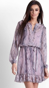 Fioletowa sukienka Ivon mini