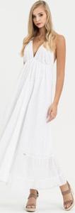 Sukienka Diverse w stylu boho z tkaniny maxi