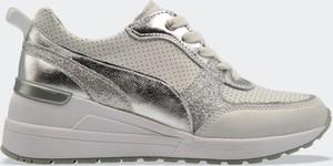 Srebrne buty sportowe Labuty sznurowane