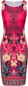 Sukienka bonprix BODYFLIRT boutique bez rękawów w stylu casual midi