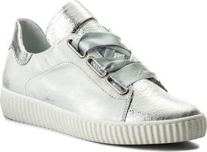 Sneakersy r.polański - 0918 srebrny przecierany