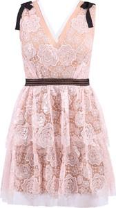 Różowa sukienka Self Portrait mini