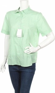 Zielona koszula Eterna w stylu casual z krótkim rękawem z kołnierzykiem