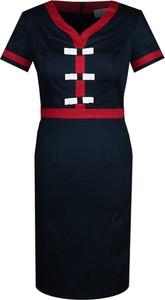 Sukienka Fokus z dekoltem w kształcie litery v z krótkim rękawem ołówkowa