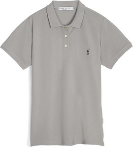 T-shirt Polo Club z bawełny z dekoltem w kształcie litery v z krótkim rękawem