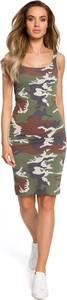 Sukienka Merg dopasowana mini na ramiączkach