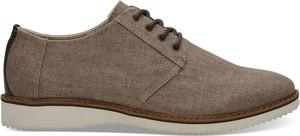Buty letnie męskie Toms sznurowane z tkaniny