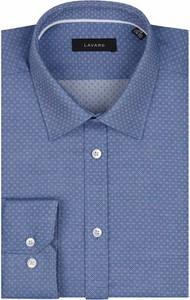 Niebieska koszula Lavard z długim rękawem