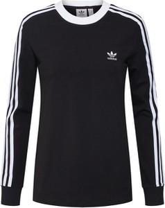Czarna bluzka Adidas Originals z długim rękawem z dżerseju