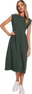 Sukienka MOE midi z krótkim rękawem