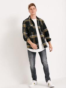 Koszula Diverse z bawełny z długim rękawem w stylu casual