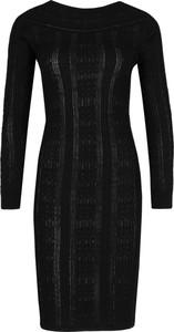 Sukienka Boutique Moschino z długim rękawem midi z okrągłym dekoltem