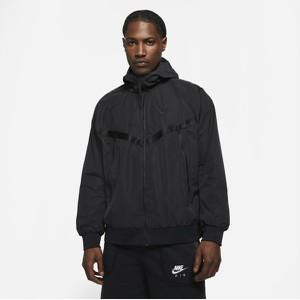 Czarna kurtka Nike w młodzieżowym stylu