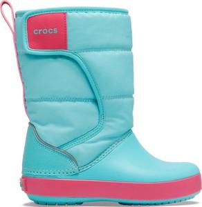 Buty dziecięce zimowe Crocs na rzepy