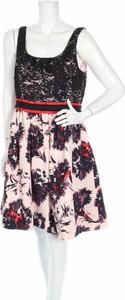 Sukienka Peter Som z okrągłym dekoltem mini na ramiączkach