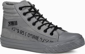 Ombre Trampki męskie sneakersy T357 - szare