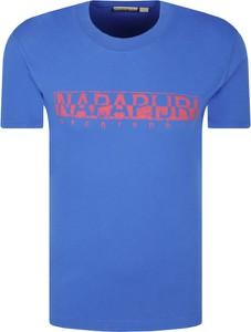 T-shirt Napapijri w sportowym stylu z krótkim rękawem