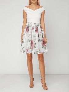 Miętowa sukienka Ted Baker mini z odkrytymi ramionami
