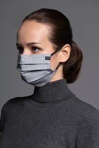 MASKKA 1511 Maska Classic z elastycznej bawełny Szary & Grafitowy Bawełna 100%