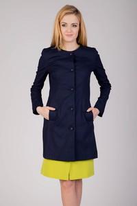 Granatowy płaszcz QUIOSQUE