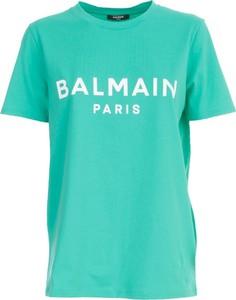 T-shirt Balmain z okrągłym dekoltem