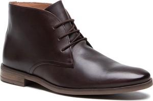 Buty zimowe Clarks ze skóry sznurowane