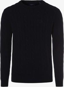 Granatowy sweter Gant z wełny