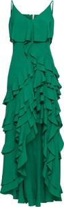 Sukienka bonprix BODYFLIRT boutique z krótkim rękawem z dekoltem w kształcie litery v midi