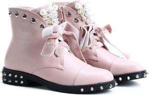 Różowe botki Royalfashion.pl na zamek w stylu casual