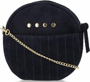 Czarna torebka VITTORIA GOTTI ze skóry średnia w stylu retro