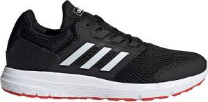 Czarne buty sportowe Adidas sznurowane w sportowym stylu