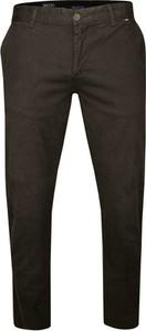 Brązowe spodnie Rigon z tkaniny