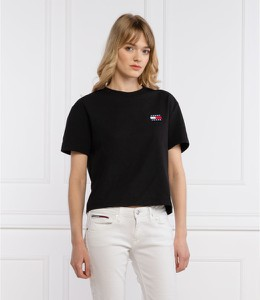 T-shirt Tommy Jeans z okrągłym dekoltem w stylu casual z krótkim rękawem