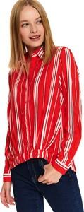 Czerwona koszula Top Secret z tkaniny