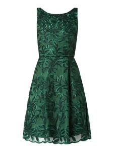Sukienka Swing z satyny bez rękawów mini