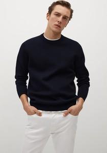 Czarny sweter Mango Man w stylu casual z dzianiny