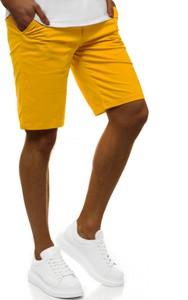 Żółte spodenki ozonee.pl w stylu casual z bawełny