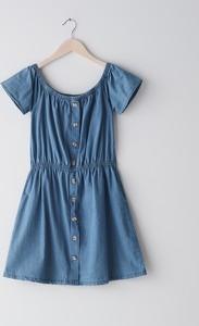 Niebieska sukienka Sinsay