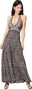 Sukienka Aller Simplement z dekoltem w kształcie litery v na ramiączkach maxi