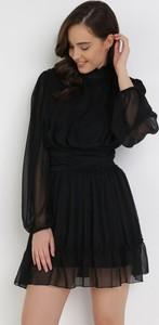 Sukienka born2be z długim rękawem trapezowa mini