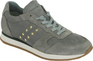Sneakersy Tommy Hilfiger w młodzieżowym stylu z płaską podeszwą z zamszu