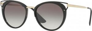 Czarne okulary damskie Prada