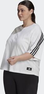 Bluzka Adidas z okrągłym dekoltem z dresówki w sportowym stylu
